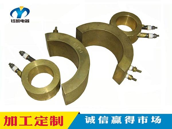 形状各异的铸铜加热圈